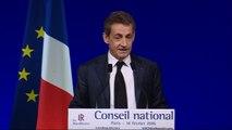 Sarkozy au Conseil national des Républicains