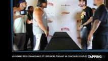 Un homme perd connaissance et s'effondre pendant un concours de gifles ! (Vidéo)