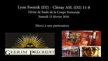 Coupe : Lyon Footzik - Clénay ASL (11-8)