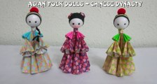 How to make 3D Paper Dolls - Asian Folk Dolls, TUTORIAL -  Chinese Dynasty