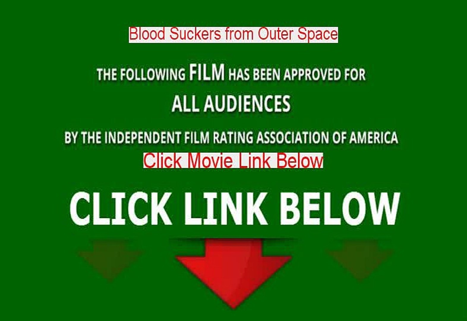 Blood Suckers from Outer Space Full Movie Download (1984)