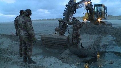 Opération de déminage à Merlimont plage
