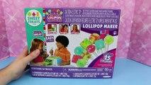 CANDY MAKER Lollipops Maker Sweet Treats Machine with Frozen Barbie Dolls & Spiderman DisneyCarToys