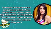 The Final Contestants Of Bigg Boss 3 | Sudeep | Huccha Venkat | Mythriya Gowda