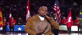 NBA All-Star Game Toronto (2016) NE-YO Sings 'The Star Spangled Banner' [HD]