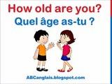 Cours danglais 11 - QUEL ÂGE AS-TU en anglais Dialogue Conversation facile Se présenter en anglais