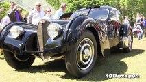 Ralph Laurens 1938 Bugatti Type 57SC Atlantic Start Up & Exhaust Sound