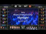 [게임코치] 2015 롤드컵 준결승 하이라이트  SKT vs OG #02 (LoL World Championship 2015 Semi Final Highlight)