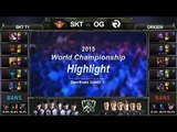 [게임코치] 2015 롤드컵 준결승 하이라이트 SKT vs OG #01 (LoL World Championship 2015 Semi Final Highlight)