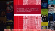 Download PDF  Theories and Manifestoes of Contemporary Architecture FULL FREE