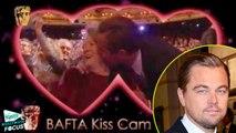 Leonardo DiCaprio Kisses Maggie Smith On Kiss Cam At BAFTAs