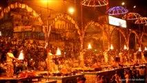 Varanasi Ganga Aarti Holy River Hindu Worship Ritual