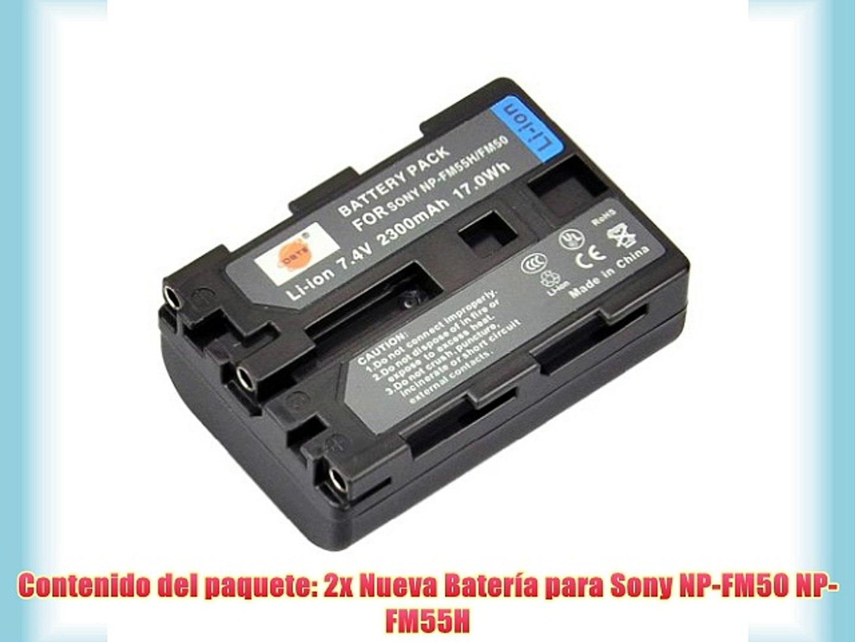 NP-FM50 2x Bateria 1200mAh para Sony NP-FM30 NP-FM70