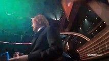 Ed Sheeran Thanks Stevie Wonder _ GRAMMYcam _ 58th GRAMMYs