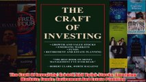 Download PDF  The Craft Of Investing Growth And Value Stocks Emerging Markets Funds Retirement And FULL FREE