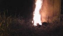 Détruire un nid de guepes sous-terrain avec du Napalm
