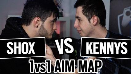 SHOX vs KENNYS 1vs1 AIM MAP CSGO [ENGLISH SUB]