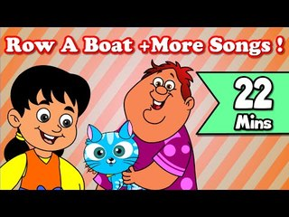 Row A Boat, After A Bath | Plus Lots More Kids Nursery Rhymes| 20 Minutes Compilation from Magicbox