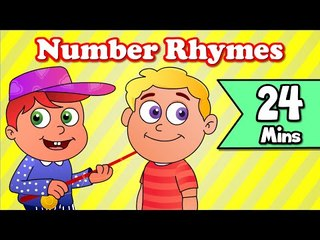 Number Rhyme, Mummy's Gone To London  | Plus Lots More Kids Nursery Rhymes| 24 Minutes Compilation