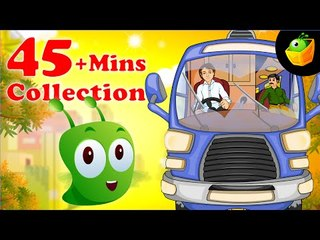Wheels On The Bus And More Rhymes - 45 Plus Mins Compilation Of English Nursery Rhymes  For Kids