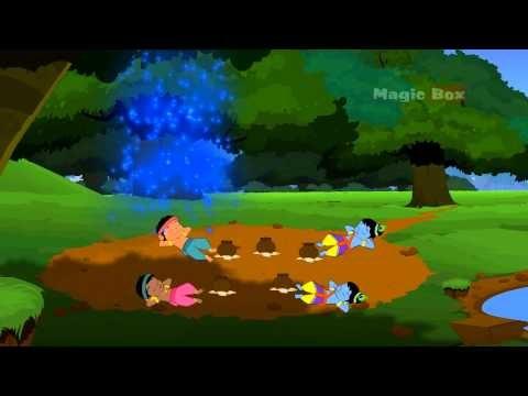 Brahma's Illusion - Krishna vs Demons In Malayalam - Animated / Cartoon  Stories For Kids