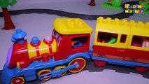 Поезд мультик. Мультики про паровозики. Парк развлечений. Мультики для самых маленьких.