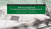Managing Corporate Impacts  Co Creating Value  Business  Value Creation  and Society