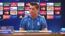 Cristiano Ronaldo speaking about his teammates before Roma clash
