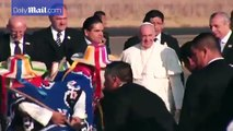 Pope arrives in Mexican state ravaged by drug violence