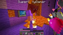 Pat and Jen PopularMMOs Minecraft BURNING LOVE CREEPER ESCAPE EXPLOSIONS AND BURNING Mini-