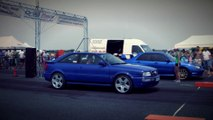 Audi S2 Coupe Turbo Vs. Subaru Impreza WRX STI Drag Race HD