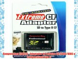 Komputerbay ESDCFII - Adaptador de tarjetas SD/SDHC/MMC a CompactFlash tipo II