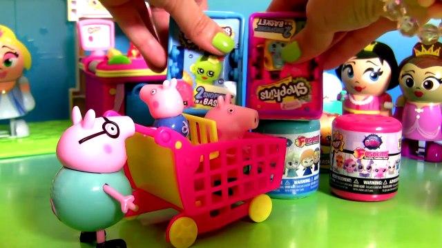 Peppa Pig & George Go Shopping Shopkins Surprise Baskets + Fashems Disney Frozen Mashems Paw Patrol