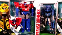TRANSFORMERS Robots in Disguise Optimus Prime Bumblebee & Imaginext Toys a Transformers Video