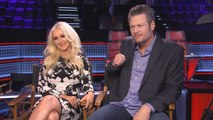 [AH] 'The Voice': Christina Aguilera & Blake Shelton On Her Return