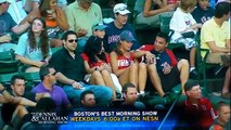 Sports announcers can't keep it together when their crew captures a fan tweaking his lady on camera.