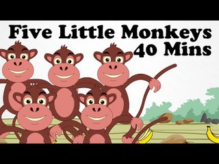 Five Little Monkeys Jumping On The Bed and more | Cartoon English Nursery Rhymes Songs For Children