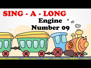Engine Number 9 |  Sing a long | Cartoon English Nursery Rhymes Songs For Children