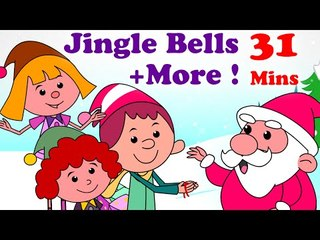 English Nursery Rhymes For Kids - Jingle Bells | Christmas Songs | And More Children's Songs! | 30 Minutes Long |  Nursery Rhymes