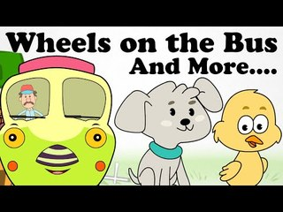 Wheels On The Bus Go Round and Round | Plus Lots More Nursery Rhymes | 2D Animation Songs For Kids