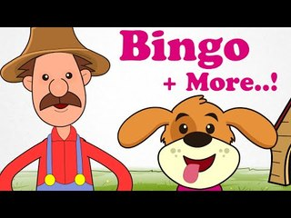 BINGO | Plus More Classic Rhymes! | 43 Minutes Long | Cartoon Nursery Rhymes Songs For Children