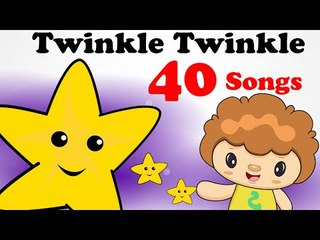 Twinkle Twinkle & More Nursery Rhymes! |  40 Videos! | 2D Animation in HD from SillyLittle