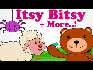 Itsy Bitsy Spider | Plus Lots More Classic Rhymes | 30 Minutes Compilation For Kids