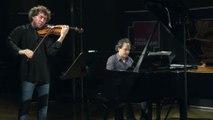 Bartok : 1er mouvement de la seconde Sonate pour piano et violon par Pierre Fouchenneret et Romain Descharmes | Le live de la Matinale