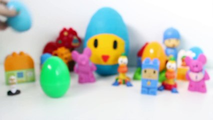 Pocoyo Giant Surprise Egg Play Doh Pocoyo Überraschung Eier Пластилін Покојо яйцо Huevo Sopresa