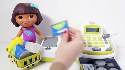 ★ DORA THE EXPLORER CASH REGISTER TOY ★ Supermarket Dora La Exploradora Toy Food Cooking Playset