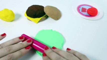 Play@Home Kitchen Microwave Oven Toy Food Play Doh Food Burgerキッチン 電子 Horno Microondas