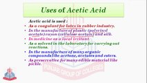 Preparation of Acetic Acid From Oxidation Of Ethanol , Physical Characteristics & Uses of Acetic Acid, Amino Acids & their Types