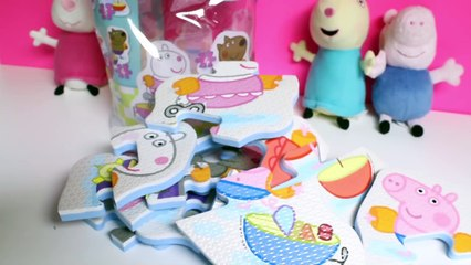 Peppa Pig Bath Toys Peppa Pig 4 Shaped Bath Puzzles Peppa Pig Toys Свинка Пеппа игрушки