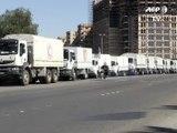 Syrie: des camions d'aide se dirigent vers des villes assiégées